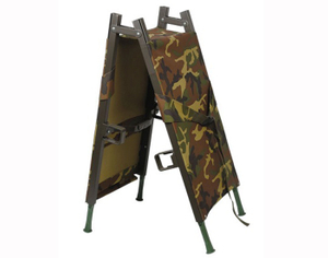 First aid military two foldable stretcher with telescopic handle with handles