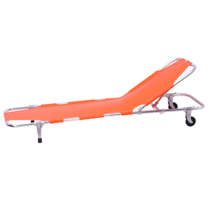 Used ambulance adjustable aluminum back stretchers