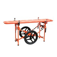 Military Emergency Outdoors Wild Mountain Transshipment Trolley with Folding Stretcher Spine Plate Use